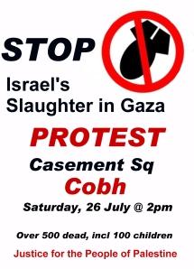 cobh gaza poster